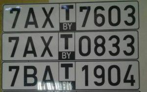 Комплект транзитный белорусских номеров